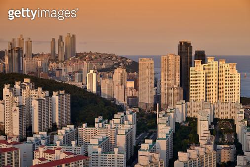 부산 해운대의 빌딩숲 - gettyimageskorea