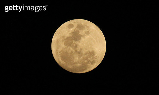 Low Angle View Of Moon Against Sky At Night - gettyimageskorea
