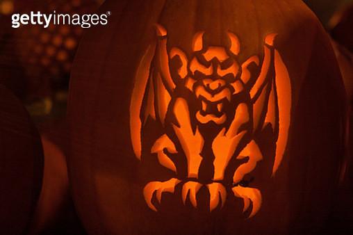 Pumpkin Gargoyle - gettyimageskorea
