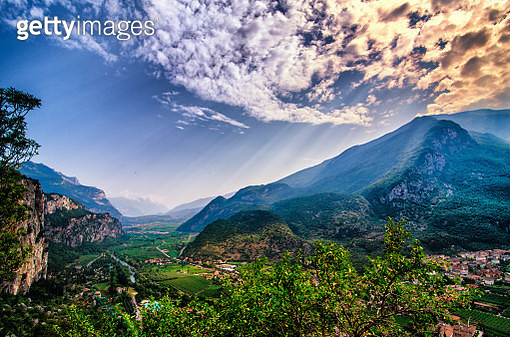 The magic valley of Sarca River. - gettyimageskorea