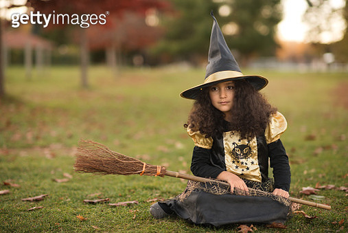 A little witch for Halloween - gettyimageskorea