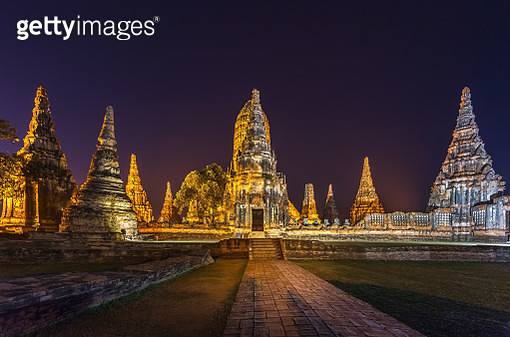The old Wat Chaiwattanaram temple - gettyimageskorea