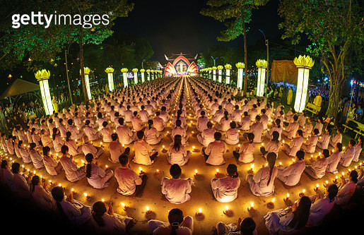 Participants in a parade celebrate Buddhas festival day Vietnam - gettyimageskorea