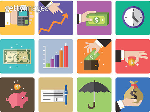 Icon Set, Finance - gettyimageskorea