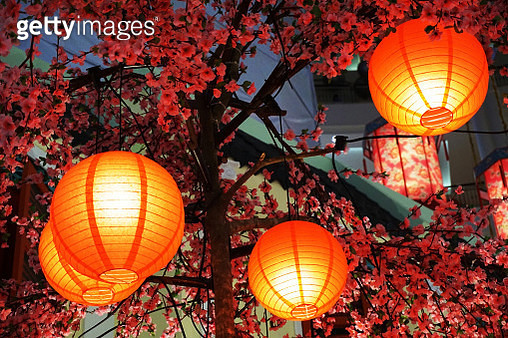 Chinese New Year Lanterns - gettyimageskorea