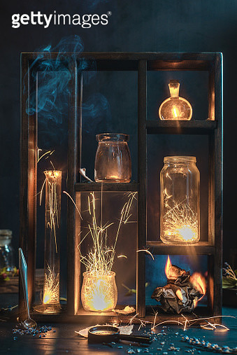 Fire and sparks collection - gettyimageskorea