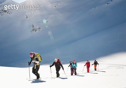 Skitour, Weissenseegletscher, Salzburg, Austria - gettyimageskorea