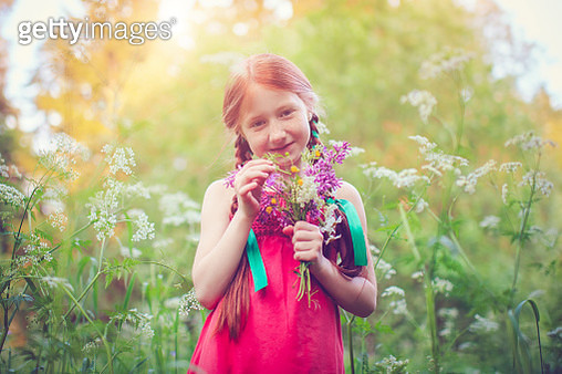 Little girl and nature - gettyimageskorea