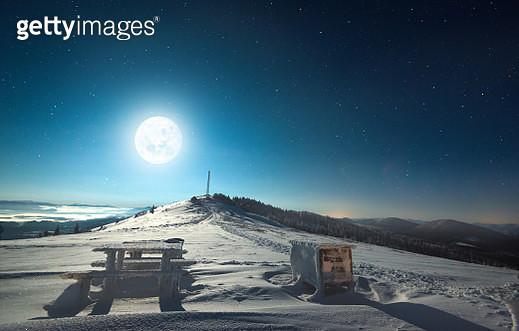 Winter moon - gettyimageskorea