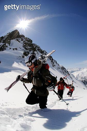 Ski Touring, Tristkopf, Kelchsau, Tyrol, Austria - gettyimageskorea