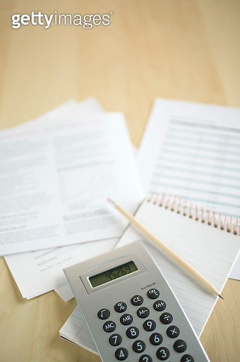 Calculator, notebook and important documents - gettyimageskorea