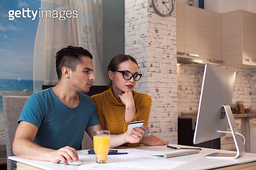 Shopping online with computer - gettyimageskorea