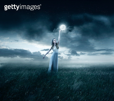 Touching the moon - gettyimageskorea