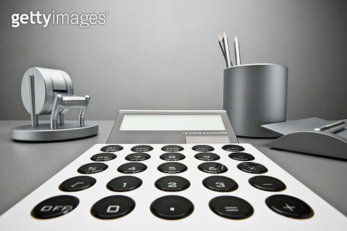 Calculator and office supplies - gettyimageskorea