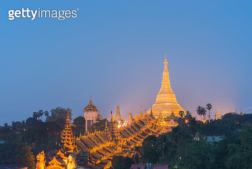 Illuminated Golden Shwedagon - gettyimageskorea