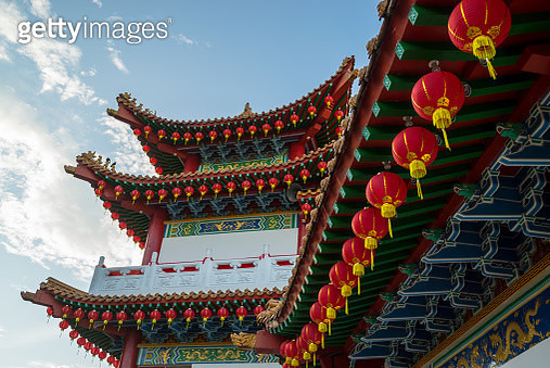 Lanterns display at traditional temple - gettyimageskorea