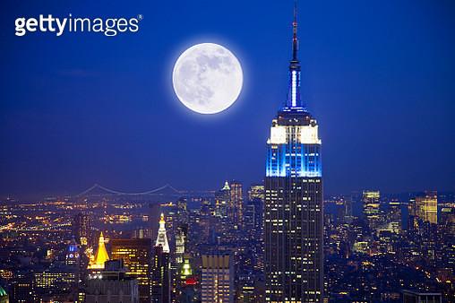 Moon, North America, USA, New York City, - gettyimageskorea