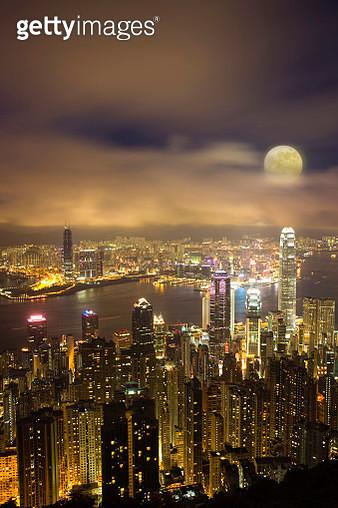 Moon, China, Hong Kong, Asia, - gettyimageskorea
