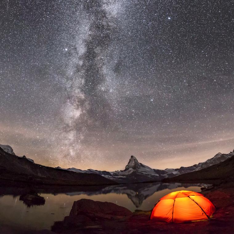 Winter Night Camping