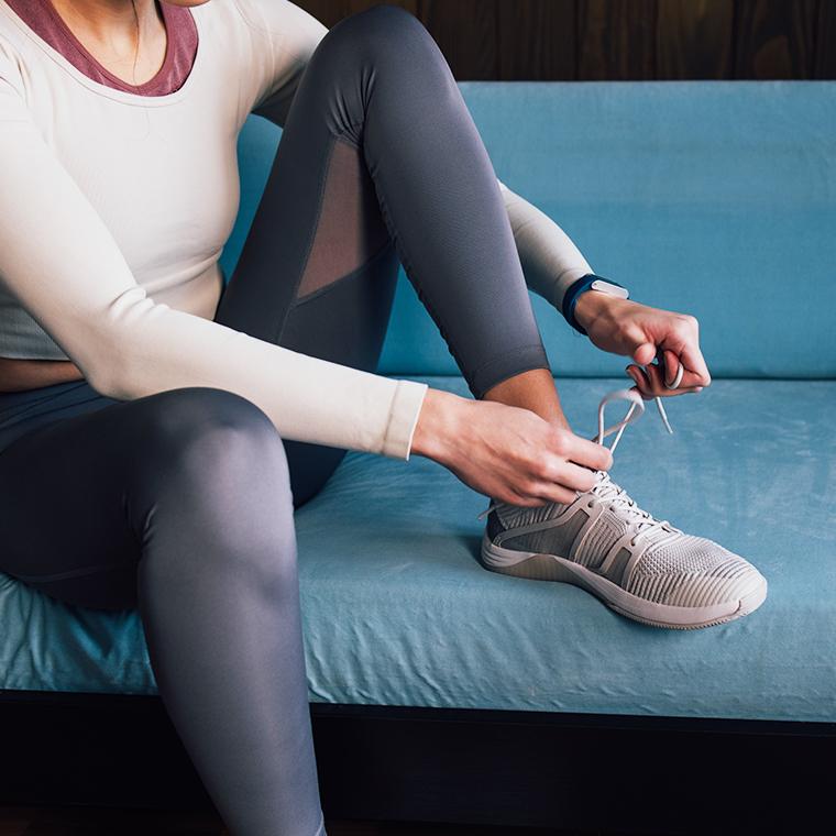 운동하는 여성들