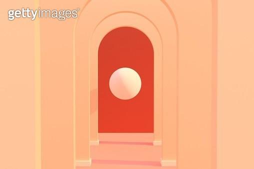 arch corridor - gettyimageskorea