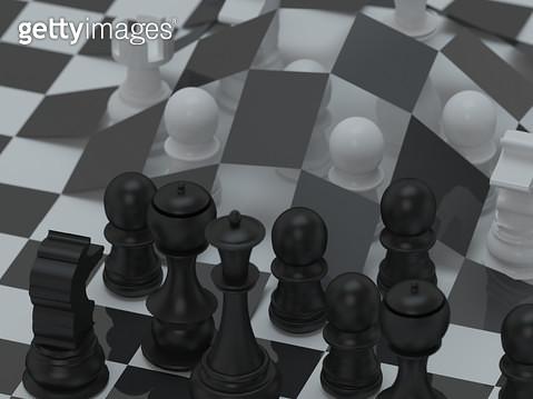 엎어지는 체스판 - gettyimageskorea