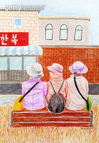 3 Women, 세 할머니 - gettyimageskorea