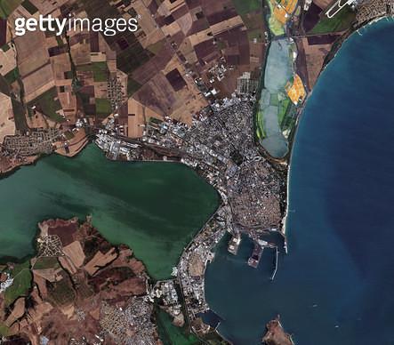 위성사진, 불가리아, 부르가스, 항구도시 - gettyimageskorea