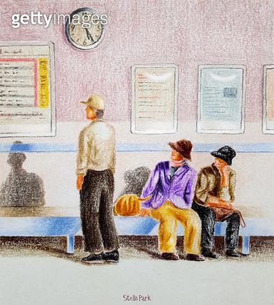5:25PM, 오후, 지하철역 - gettyimageskorea