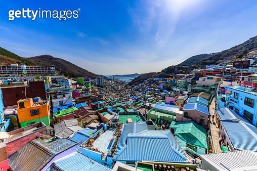 감천문화마을, 부산시 사하구 감천동 - gettyimageskorea