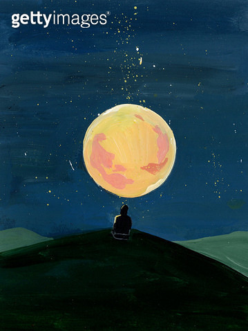 보름달,달,밤 - gettyimageskorea
