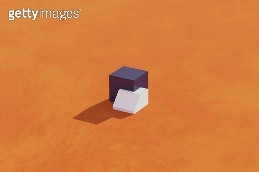 two overlapped boxes - gettyimageskorea