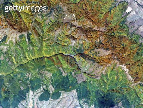 위성사진, 불가리아, 산맥, 반도체 - gettyimageskorea