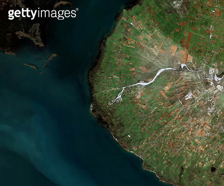 위성사진, 알바니아, 몬테네그로, 해안가 - gettyimageskorea