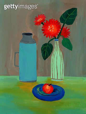 정물,정물화,꽃,과일 - gettyimageskorea