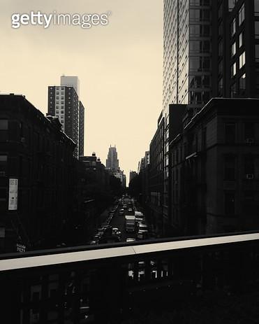 뉴욕,흑백,대비,풍경,고층빌딩,맨하탄 - gettyimageskorea