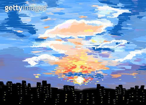 해질녘 도시 - gettyimageskorea