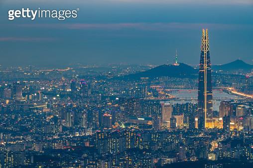 남한산성에서 본 서울 풍경 - gettyimageskorea