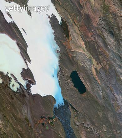 위성사진, 아이슬란드, 노르뒤틀란드 베스트라 - gettyimageskorea