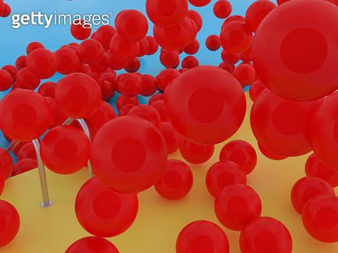 붉은 탱탱볼들 - gettyimageskorea