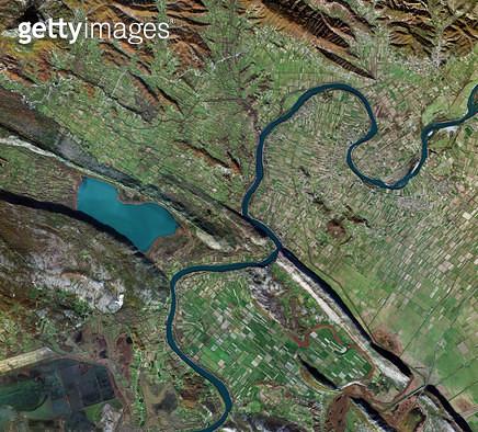 위성사진, 몬테네그로, 알바니아, 사싯 호 - gettyimageskorea