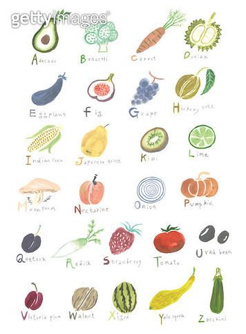 과일을 이용한 알파벳 포스터 - gettyimageskorea