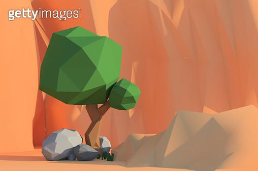 나무와 바위 셋 - gettyimageskorea