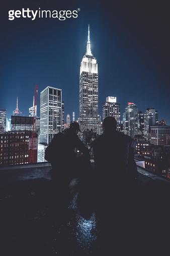 엠파이어 스테이트 빌딩과 사진사들 - gettyimageskorea