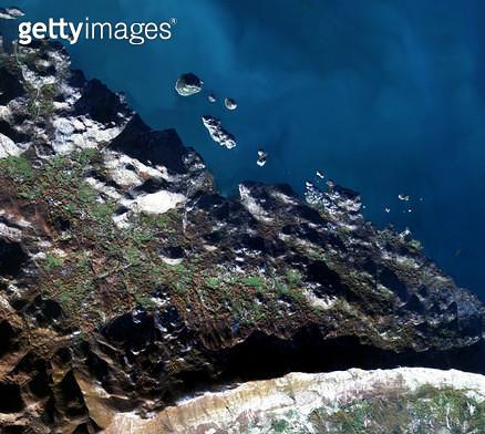 위성사진, 몬테네그로, 스쿠타리 호 - gettyimageskorea