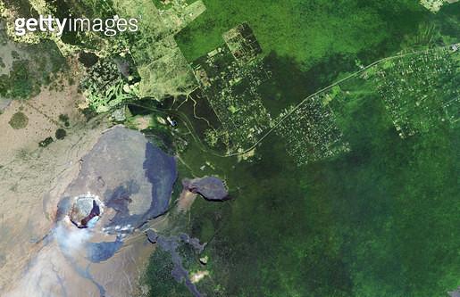위성사진, 미국, 하와이, 화산 - gettyimageskorea