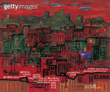 제목 : 아름다운 시애틀(미국) (2010년)<br/>소재 : 캔버스에 아크릴<br/>작품사이즈 : 72 x 60(㎝)<br/> - gettyimageskorea