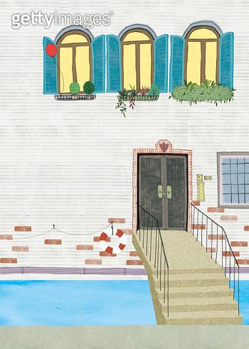 베니스 풍경의 집 - gettyimageskorea
