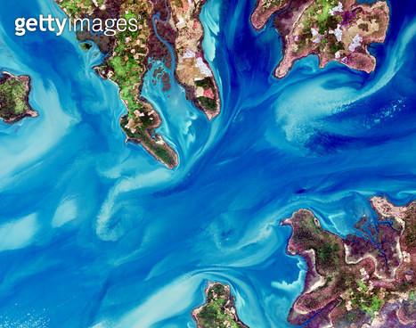 위성사진, 기니비사우, 바다 - gettyimageskorea