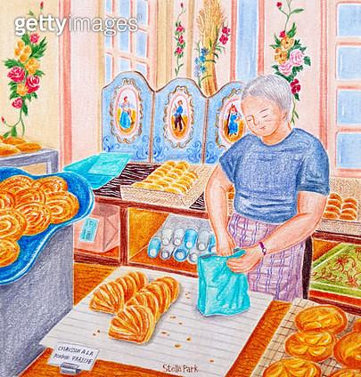 빵집, Boulangerie, 파리의 빵집 - gettyimageskorea